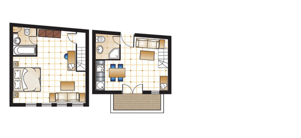 One Bedroom Maisonette floorplan